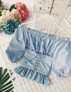 Bluzka hiszpanka błękitna