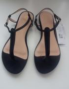 Czarne sandały rozm 38 nowe Mohito