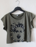 koszulka khaki bawełniana s m