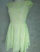 KORONKOWA NEON sukienka 36 S...