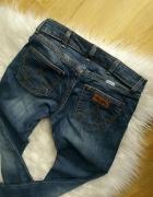 jeansy rurki spodnie wrangler XS S