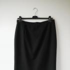 elegancka czarno grafitowa spódnica midi ołówek w delikatne paseczki XXXL 46