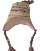 Modna czapka 6 i 7 lat z warkoczami