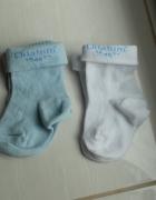 Nowe skarpetki 16 białe niebieskie