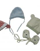 Pierwsze czapeczki dla noworodka 50 56