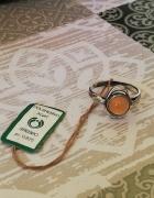 Piękny nowy stary pierścionek Warmet Agat...