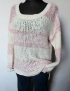 Ciepły asymetryczny sweter r L