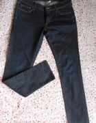 HM jeansy sqin skinny fit slim ciemne jeans