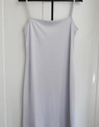 Minimalistyczna sukienka bieliźniana S M 36 38