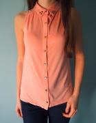 Brzoskwiniowa koszula z ćwiekami New Look 38 M 36
