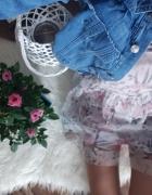Sukienka kwiaty przewiewna s...
