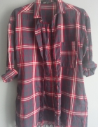 Dłuższa koszula w kratę