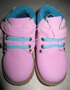 INTERTEK różowe trapery buty dziewczęce roz 24