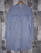 H&M Długa koszula w paski...