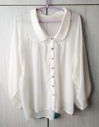 Biała ecru kremowa bluzka koszulowa koszula mgiełka Atmosphere