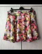 Kwiecista kolorowa rozkloszowana spódnica mini Atmosphere...