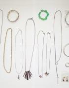 zestaw biżuterii naszyjnik kolczyki bransoletka 18 szt...