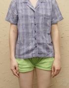 Niebieska koszulę w kratę Rozmiar L