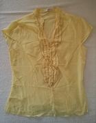 Reserved Elegancka bluzka z żabotem żółta 38 40...