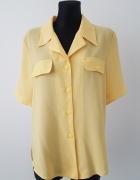 zółta bluzka z kieszeniami