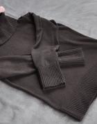 Esprit sweter brąz z golfem L 40