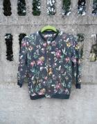 bluza Sinsay M w kwiaty na suwak