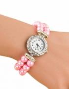 Sliczny zegarek z bransoletka z perel