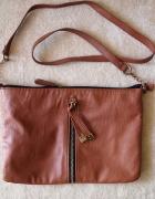 Brązowa torebka na łańcuszku Dorothy Perkins torba