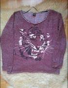 bluza z printem tygrysim