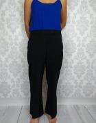 NOWE Czarne eleganckie spodnie na kant proste George