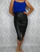 Nowa Czarna ołówkowa midi spódnica na gumce BooHoo