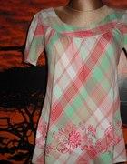 letnia indyjska tuniczka w kratke new look