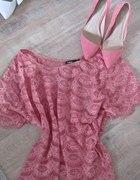koronkowa bluzka różowa CUBUS oversize