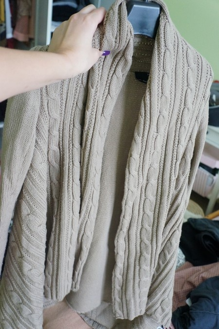 długi gruby sweter camel cubus xs...