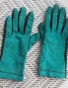 zielone skórzane rękawiczki skóra naturalna