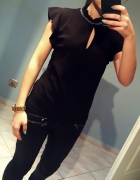 bluzka czarna elegancka s m