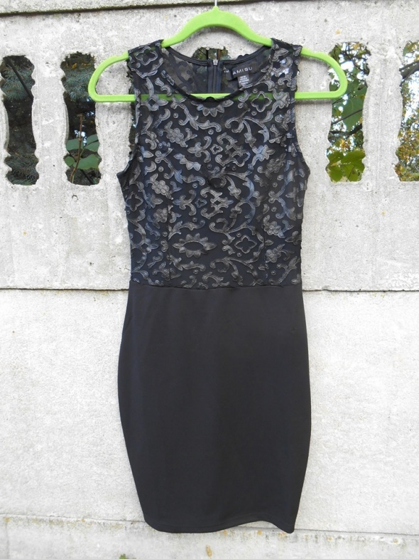 1b81855a27 AMISU czarna Sukienka S elegancka z koronką NOWA w Suknie i sukienki ...