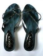 Czarne japonki Oxys 37 stan idealny buty na lato
