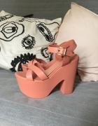 Topshop różowe buty na platformie 39 sandałki...