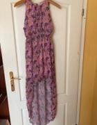 Asymetryczna sukienka kwiaty