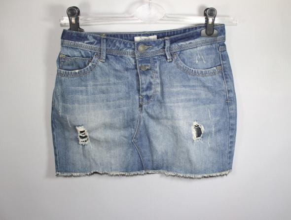 Spódnica mini ze spodni jeans mini M L...