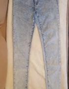 Jasne długie spodnie rurki gradientowe z wyższym stanem Tally W...