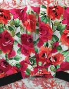 Spódnica floral z kokardką...
