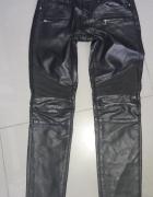 Czarne Spodnie skórzane Orsay xs...