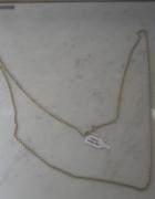 Srebrny nowy łańcuszek srebro złocone 80 cm