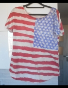 Asos koszulka nadruk flaga usa tshirt oversize