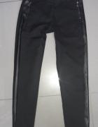 Czarne spodnie z paskiem z boku Morgan xs...