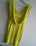 Limonkowa sukienka Asos rozm S