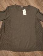 Nowy oversizowy ciepły sweter KappAhl 38 40 z ażurowym bokiem...