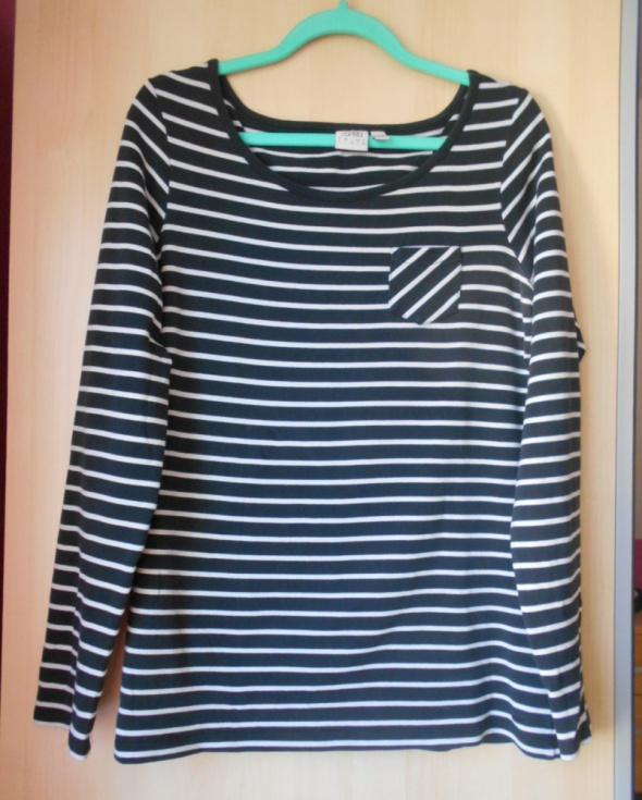 Esprit bluzka paski pasiak czarny biały minimalizm...